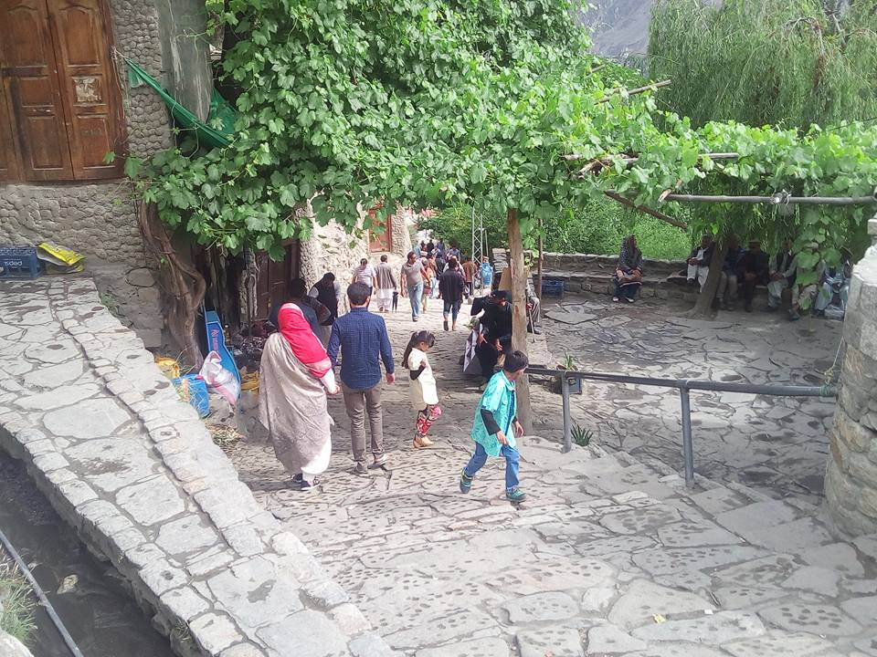 Pakistani tourists in Hunza Valley