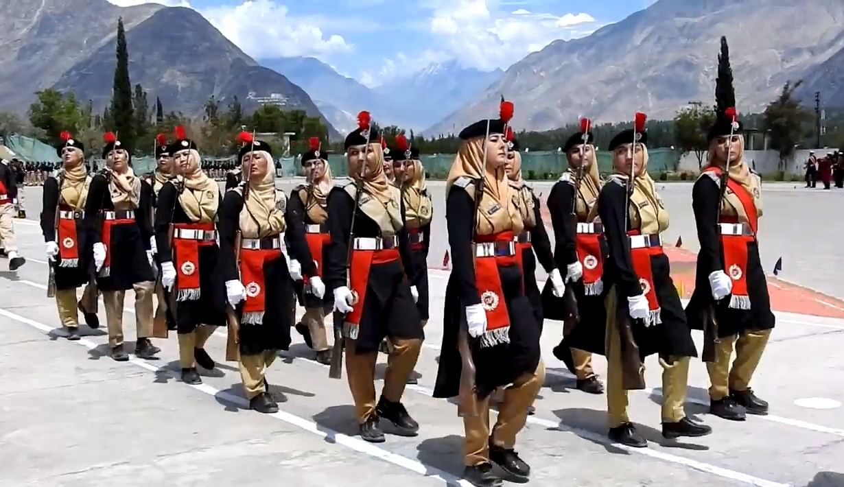 Female Police Parade in Gilgit