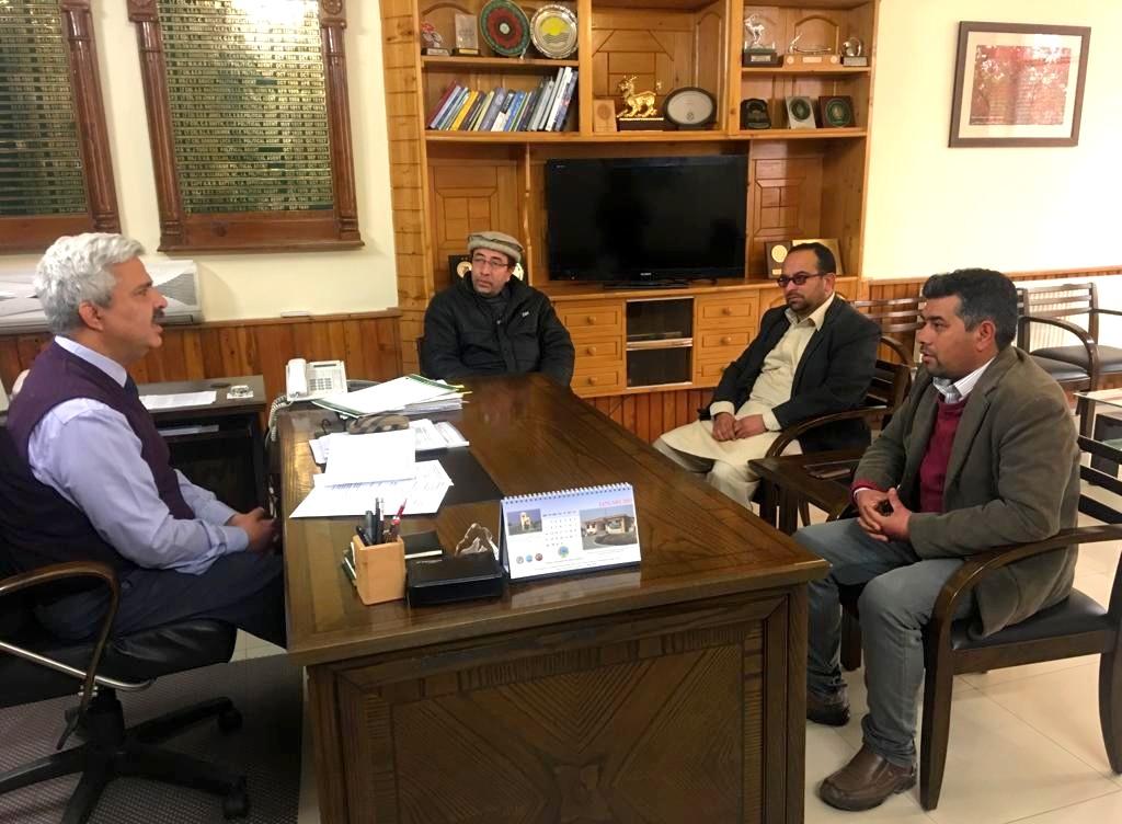 Hunza Press Club members with Chief Secretary Gilgit Baltistan Khurram Agha